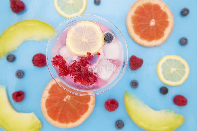 Vruchten en cocktail stock afbeelding