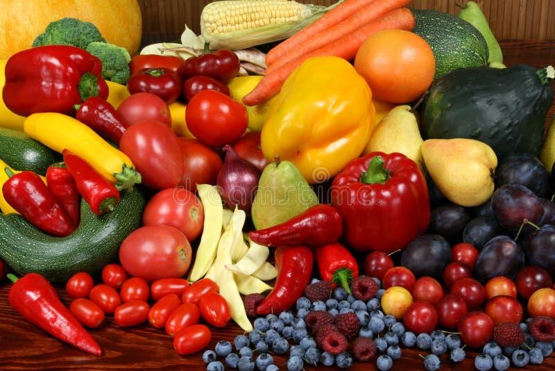 Vruchten en groenten. stock afbeelding