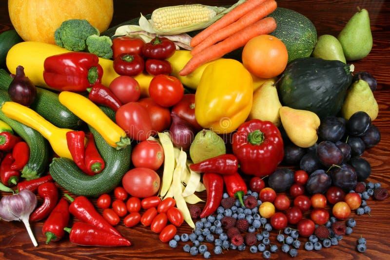 Vruchten en groenten. stock foto's