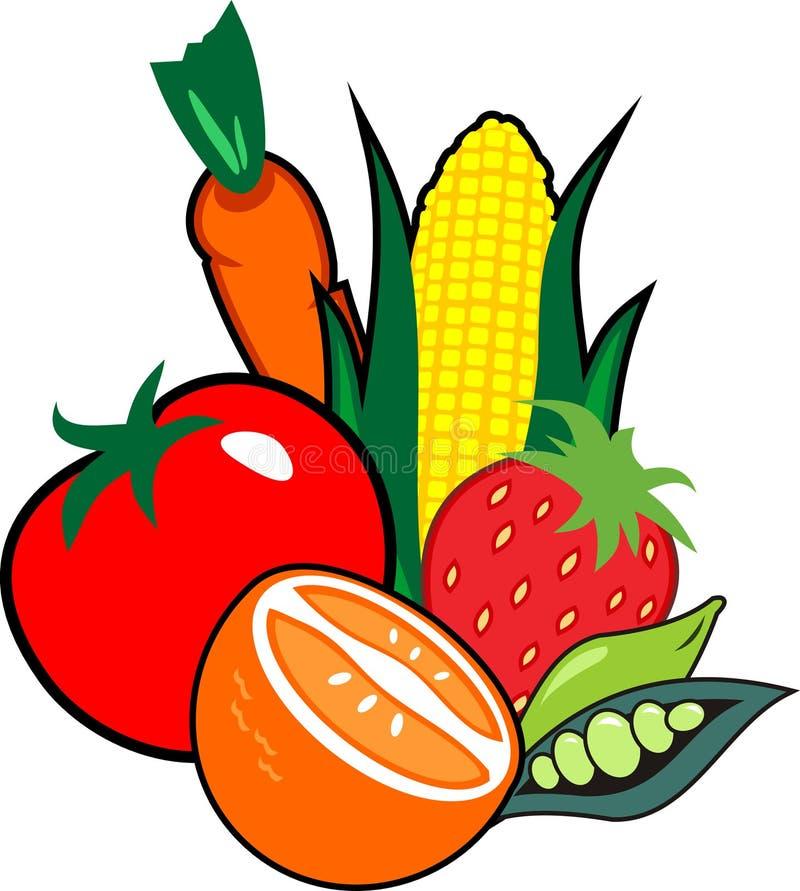 Vruchten en groenten royalty-vrije illustratie