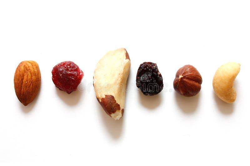 Vruchten en noten royalty-vrije stock afbeeldingen