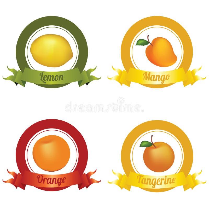 Vruchten Etiketten vector illustratie