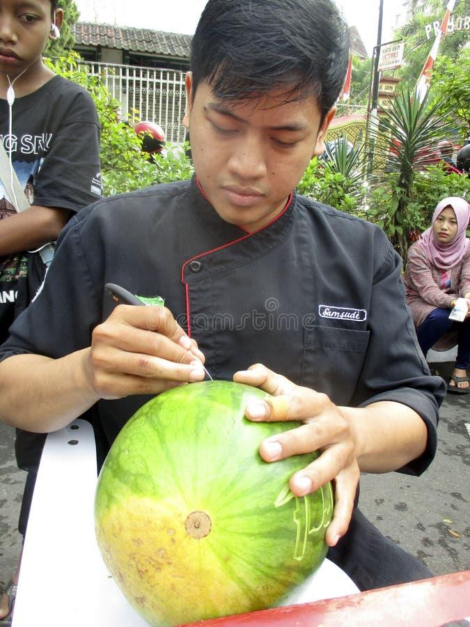 Vruchten het snijden stock fotografie