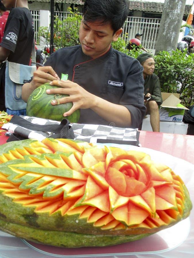 Vruchten het snijden stock afbeeldingen