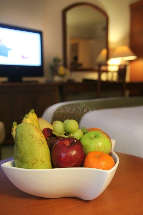 Vruchten in hotelruimte royalty-vrije stock foto's