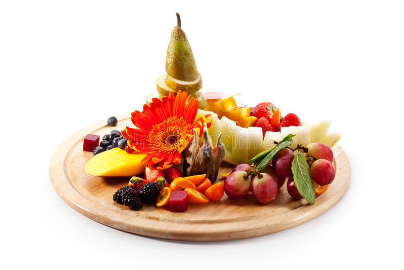 Vruchten met Bessen stock foto