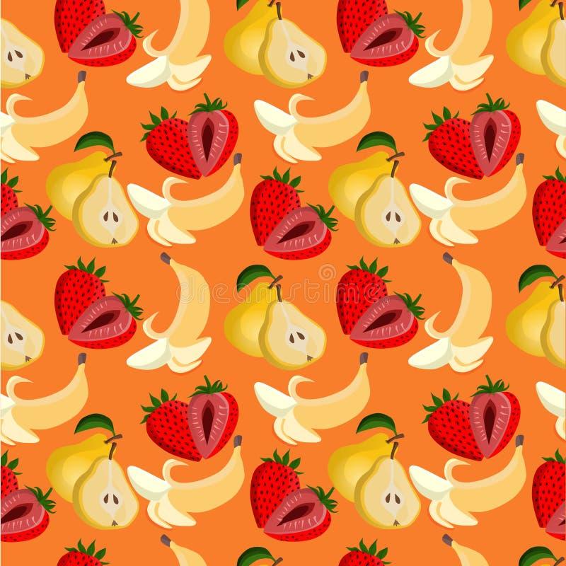 Vruchten patroon naadloze achtergrond royalty-vrije illustratie