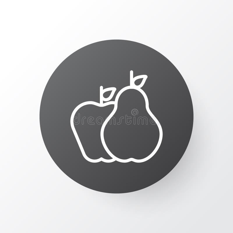 Vruchten Pictogramsymbool De Peer van de premiekwaliteit met Apple-Element in In Stijl royalty-vrije illustratie