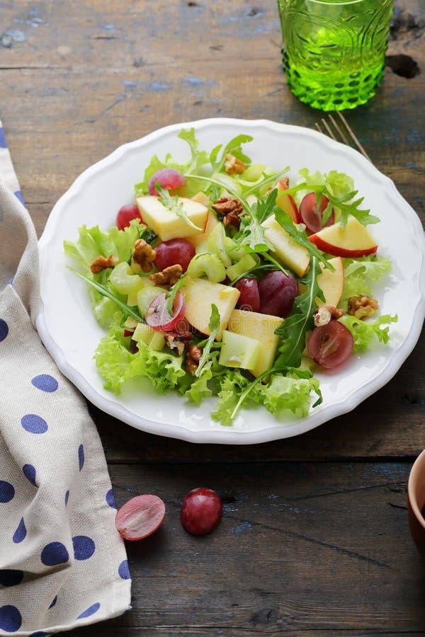 Vruchten salade met selderie stock fotografie