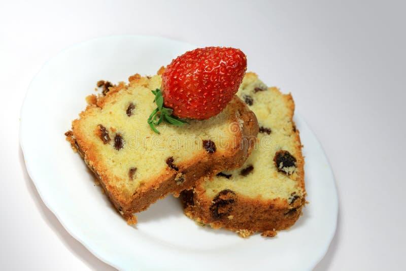 Vruchtencake royalty-vrije stock afbeelding