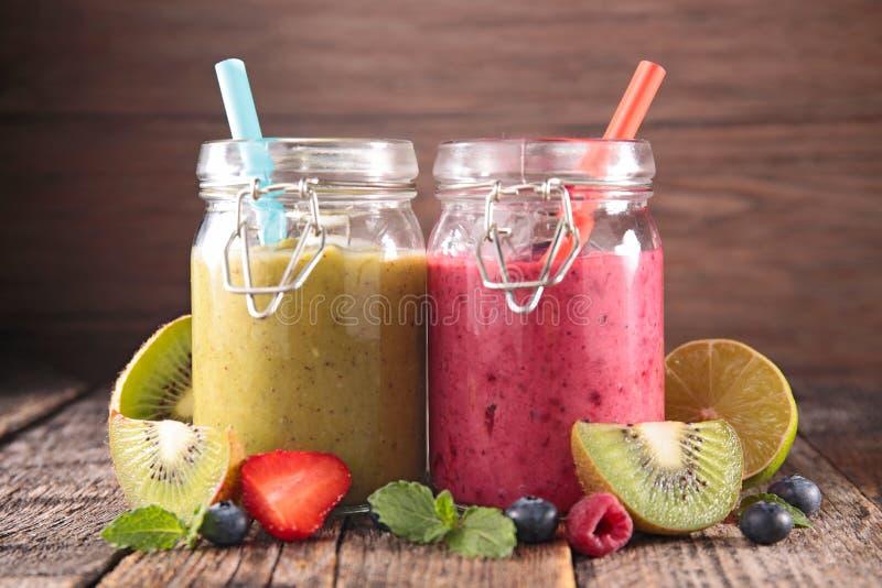 Vruchtensap, smoothie royalty-vrije stock foto