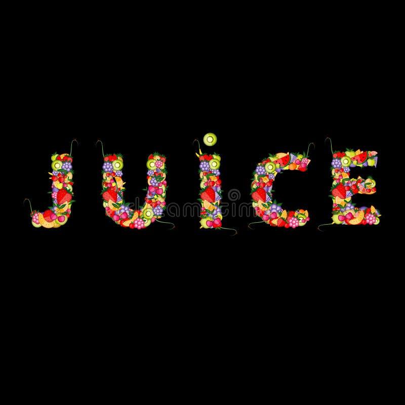 Vruchtesap voor uw ontwerp stock illustratie