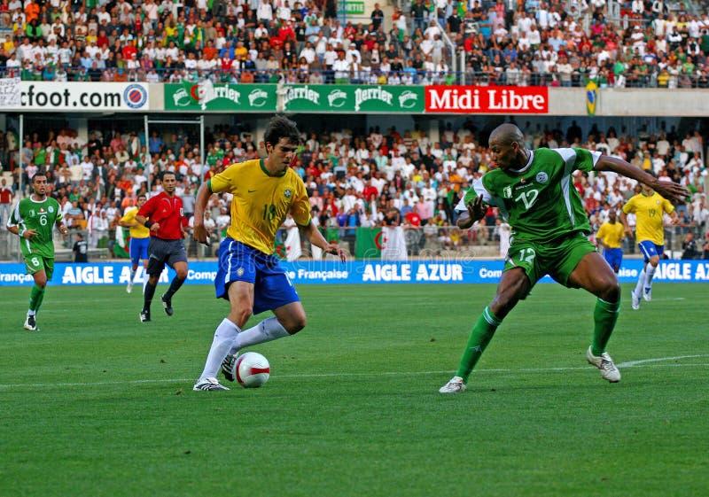 vs Algeria piłka nożna życzliwa zapałczana Brasil obrazy royalty free
