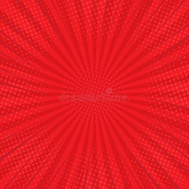 VS bokst?ver Bakgrunden är röd i en komisk design för plan stil med ett raster retro stil Pop-konst ocks? vektor f?r coreldrawill royaltyfri illustrationer