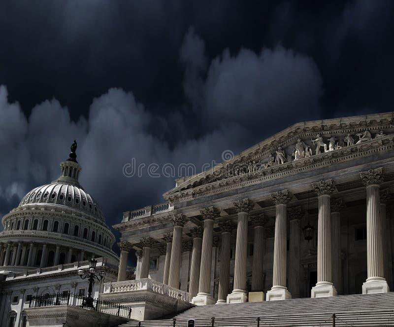 VS Capitol DC stormwolken royalty-vrije stock foto