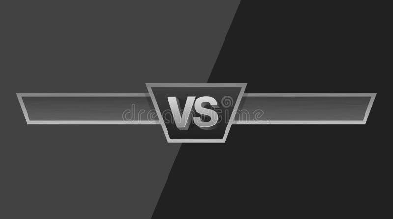 VS duellutmaningillustration Kontra bräde av rivaler, med utrymme för text royaltyfri illustrationer
