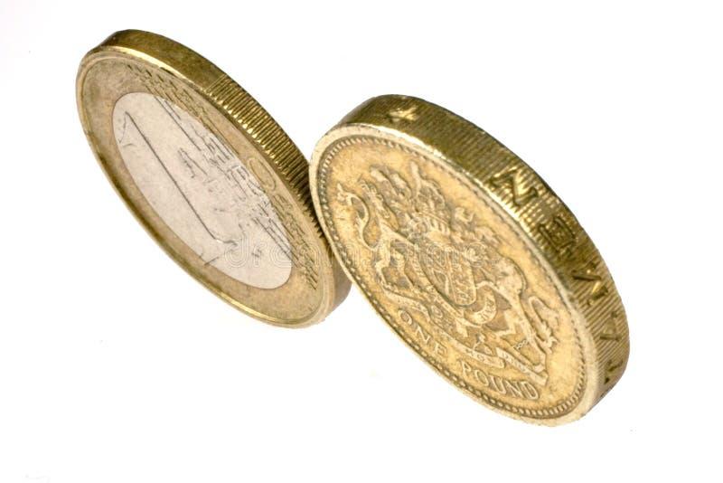 vs euro funt zdjęcia royalty free