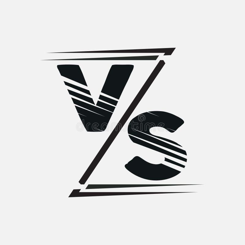 Vs kontra bokstäver symbol av konfrontation, logo för sestezaniy stock illustrationer