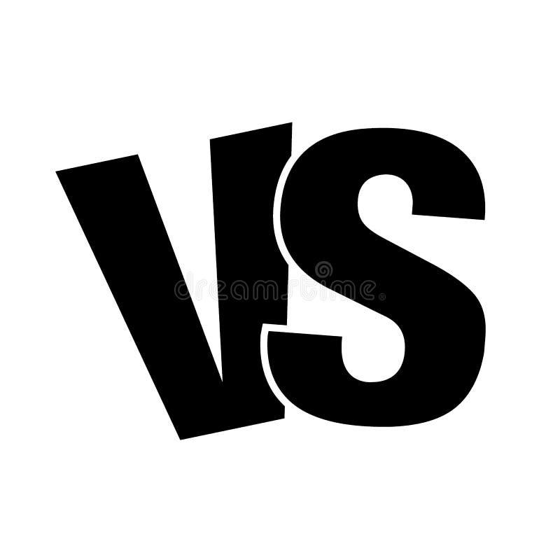 VS kontra bokstavslogosymbolen som isoleras p? vit bakgrund VS kontra symbolet f?r konfrontation- eller oppositiondesignbegrepp vektor illustrationer