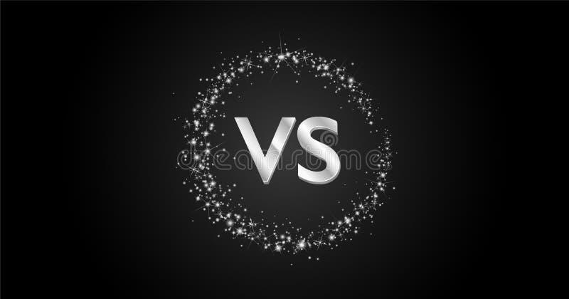 VS kontra designbegrepp med vägen för cirkeln för stjärnadamm som den stjärnklara mjölkaktiga är mörk töm utrymme vektor illustrationer