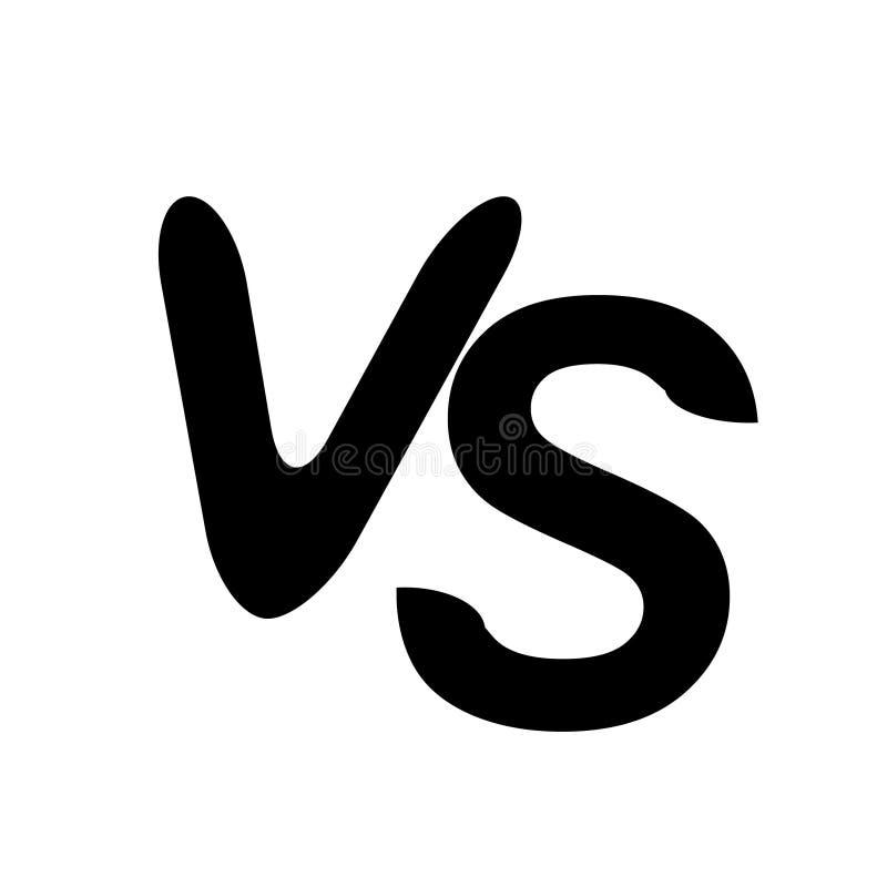 VS kontra symbolen för bokstavsvektorlogo som isoleras på vit bakgrund VS kontra symbolet för konfrontation royaltyfri illustrationer