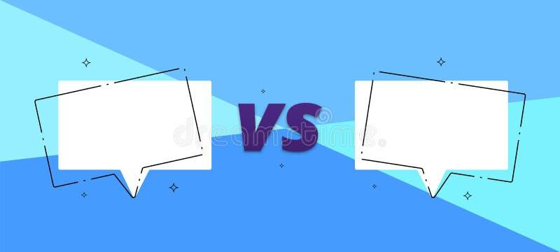 VS kort med tomma anförandebubblor vektor illustrationer