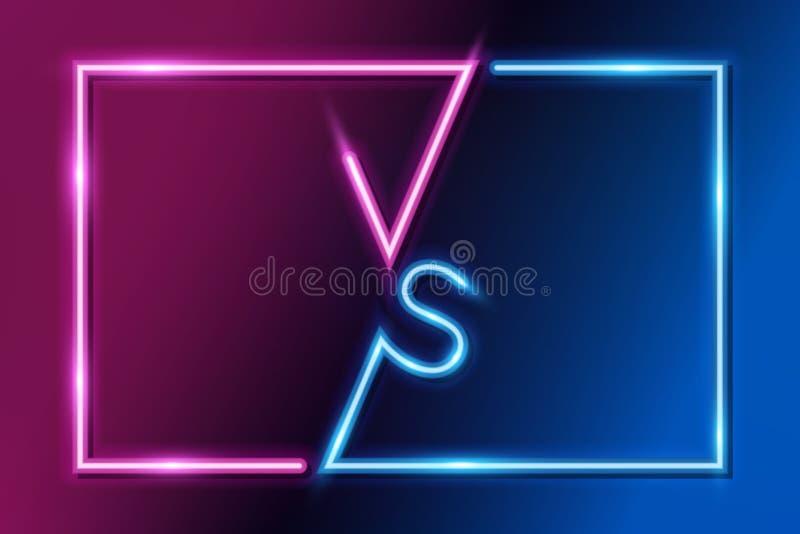 VS listy versus sztandaru pojęcia konkurencyjny wektor ilustracji