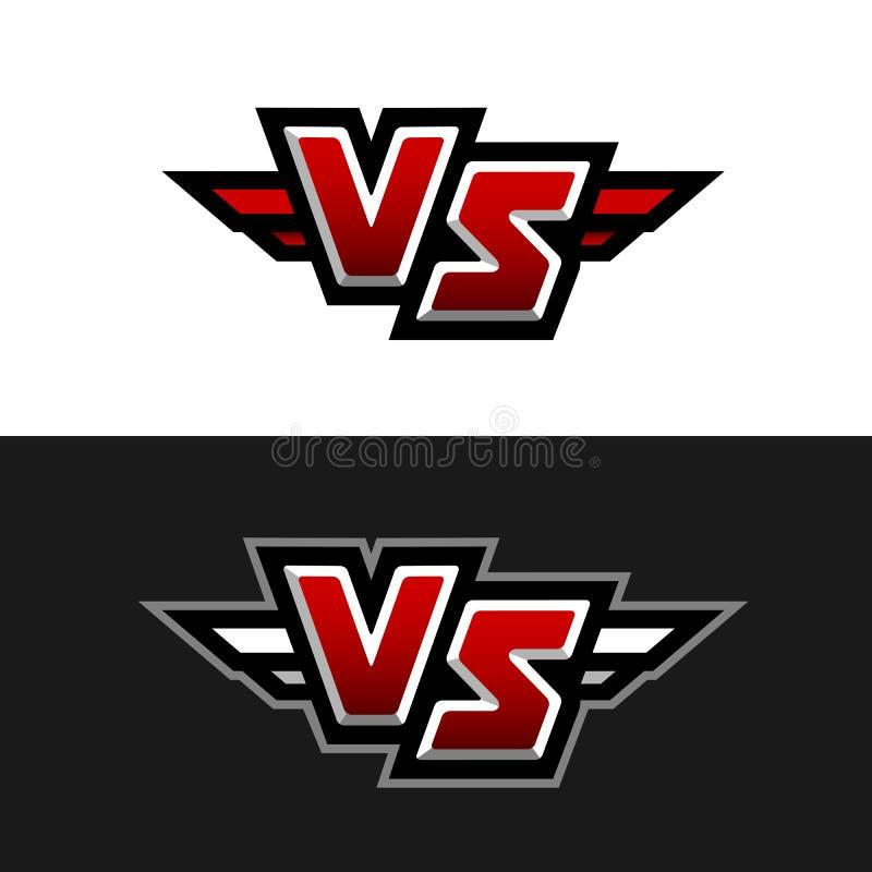 VS logo Versus symbol royalty ilustracja