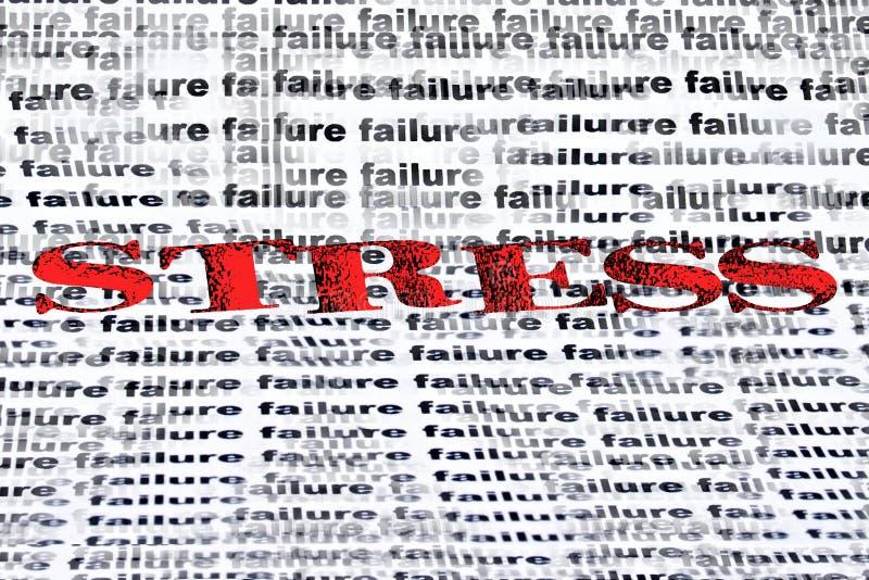 vs niepowodzenie stres obrazy stock