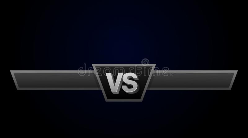 VS pojedynku wyzwania ilustracja Versus deska rywale, z przestrzenią dla teksta ilustracji