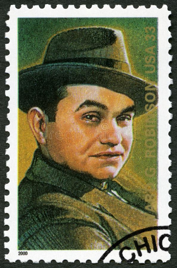 VS - 2000: shows Edward G Robinson Emanuel Goldenberg 1893-1973, Amerikaanse acteur stock foto
