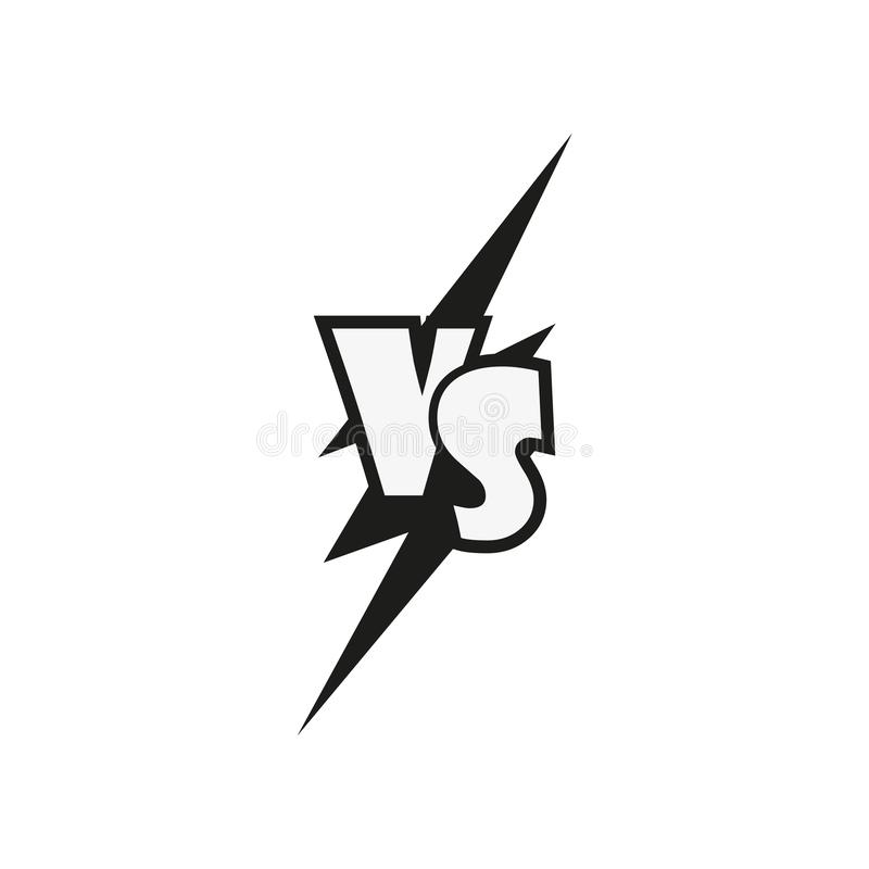 Vs symbol icon isolate on white background stock illustration