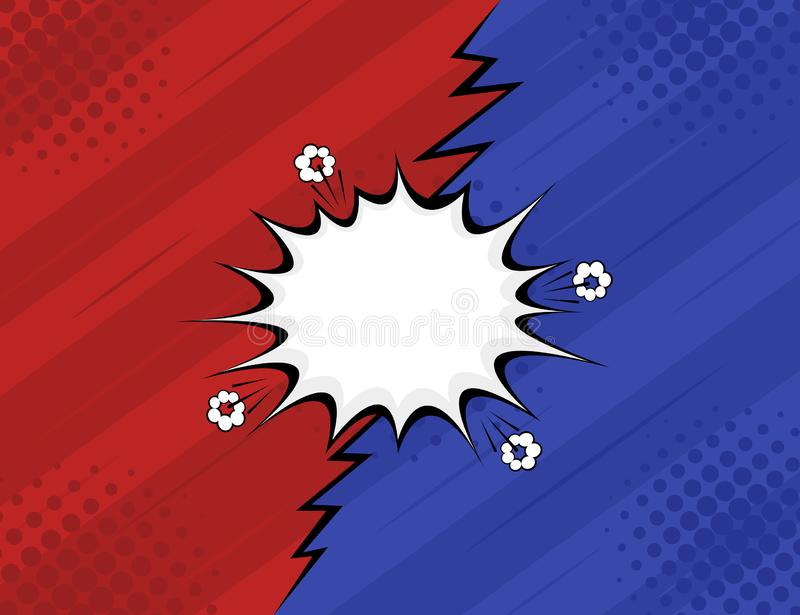VS. Versus. Fight, red and blue retro backgrounds comics style design. Modern flat style vector illustration vector illustration
