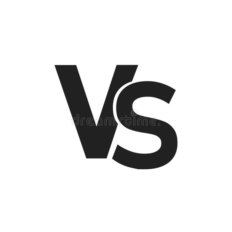 Vs Or Versus Icon Isolated Confrontation Symbol Game Concept