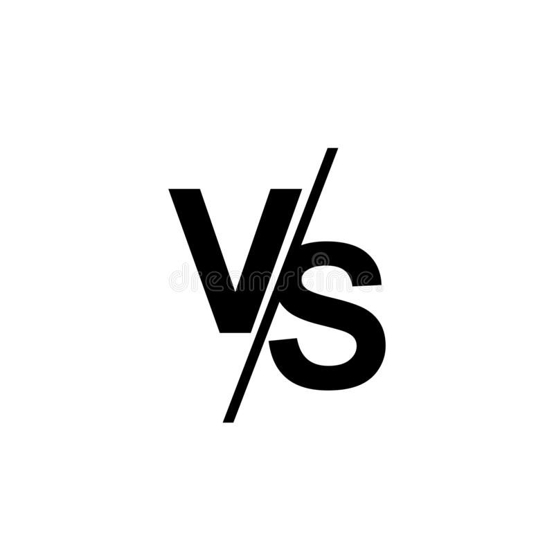 VS Versus Letters Vector Logo Isolated On Transparent Background ...