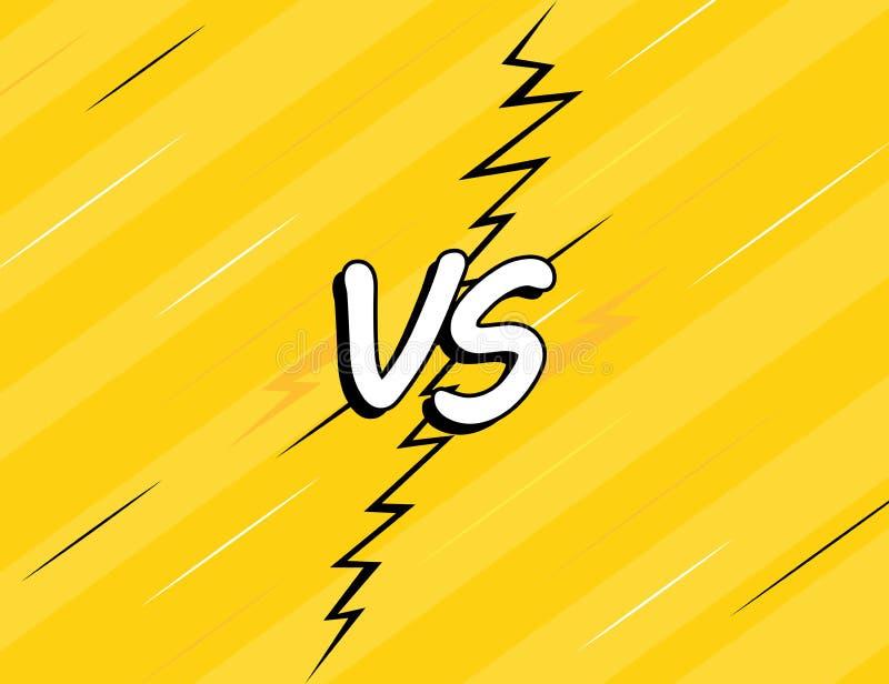 VS versus Walk tło komiczek stylu projekt odizolowywający na żółtym tle ilustracyjny nowożytny wektor royalty ilustracja