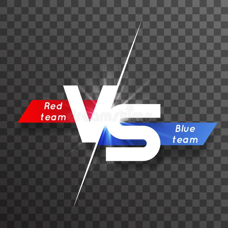 Vs white letter energy conflict game versus screen action fight competition transparent background vector graphic vector illustration