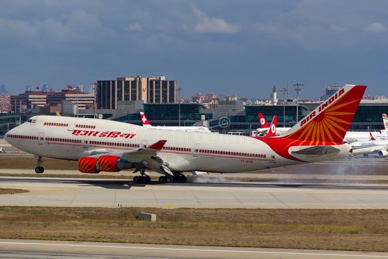 VT-EVB Air India Боинг 747 стоковые фотографии rf