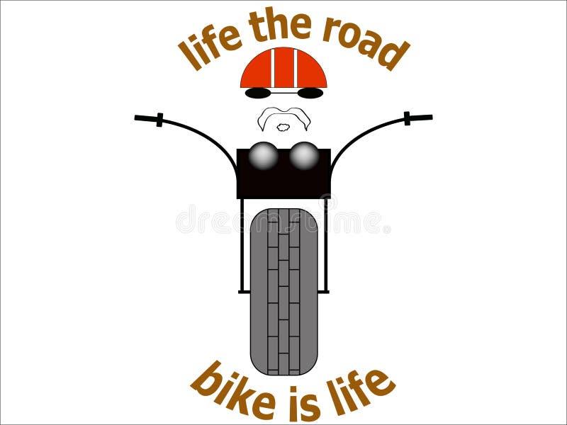 Vtcnjr della bici della strada del selettore rotante dell'illustrazione dell'immagine della maglietta del motociclista dell'autoa royalty illustrazione gratis