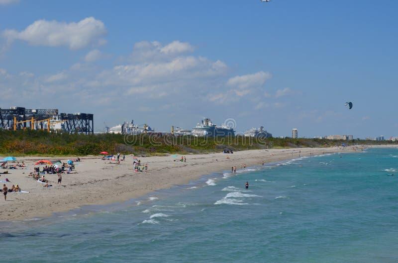 Vue à angles large de Dania Beach Looking North photo stock