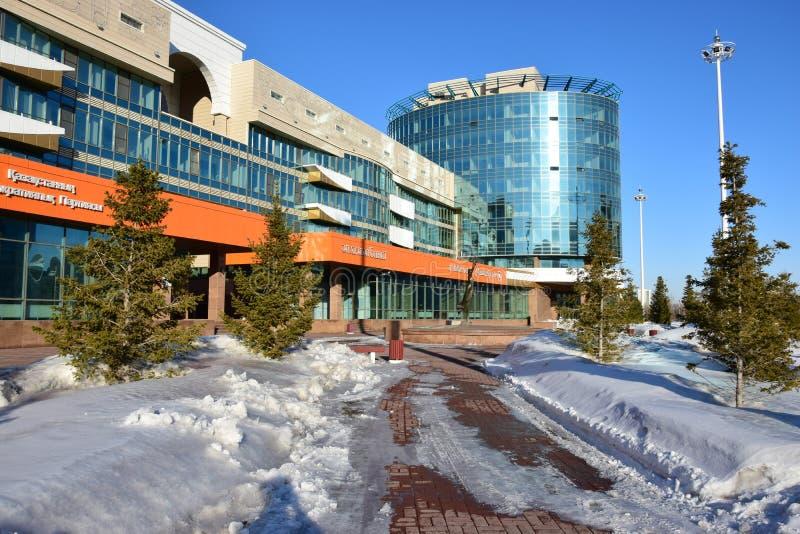 Vue à Astana en hiver photo libre de droits