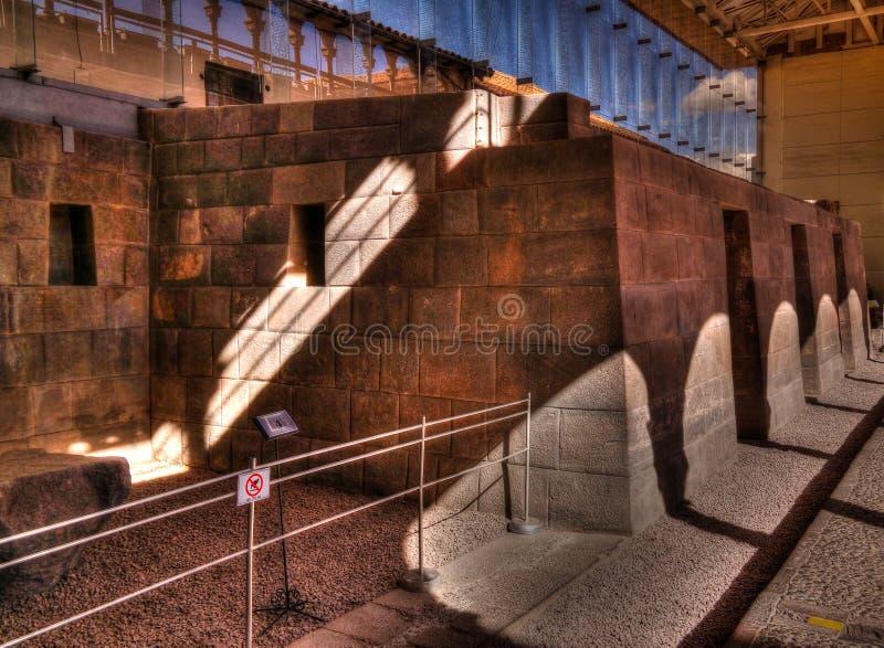 Vue à Coricancha, temple célèbre dans Inca Empire, Cuzco, Pérou photo libre de droits