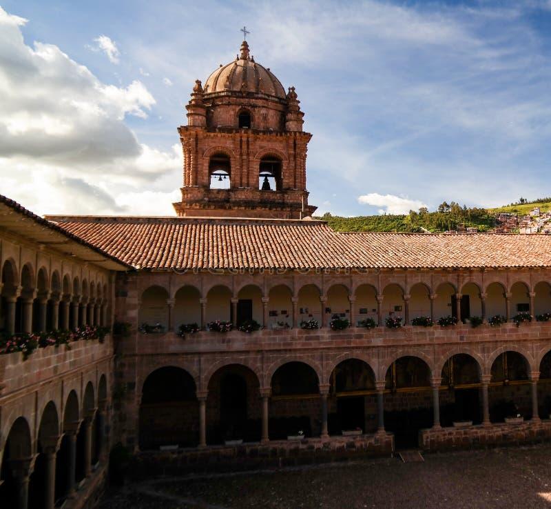 Vue à Coricancha, temple célèbre dans Inca Empire, Cuzco, Pérou photo stock