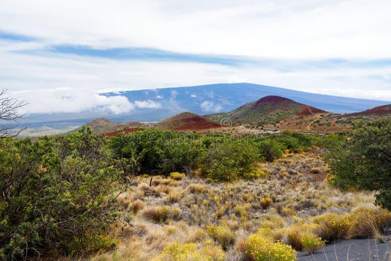 Vue à couper le souffle de volcan de Mauna LOA sur la grande île d'Hawaï photos libres de droits