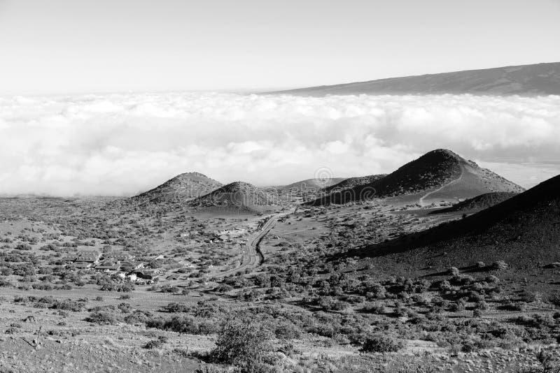 Vue à couper le souffle de volcan de Mauna LOA sur la grande île d'Hawaï photographie stock