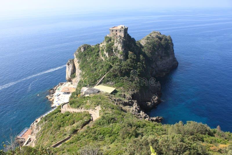 Vue à couper le souffle du littoral d'Amalfi image stock