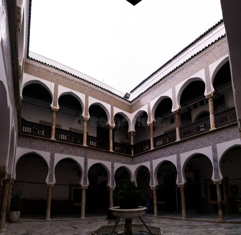 Vue à Dar Mustapha Pacha Palace, Casbah d'Alger, Algérie photo stock