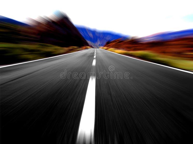 Vue à grande vitesse panoramique image libre de droits