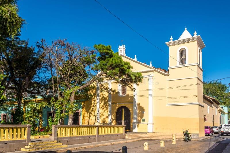 Vue à l'église de San Francisco à Tegucigalpa - au Honduras image libre de droits