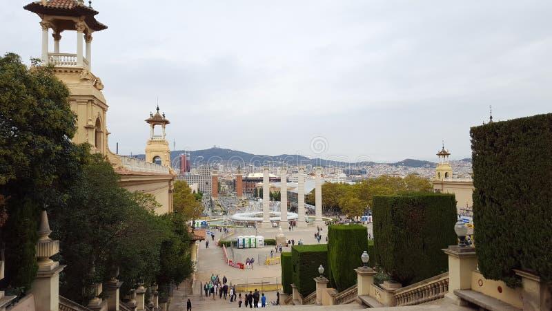 Vue à l'horizon de Barcelone images stock